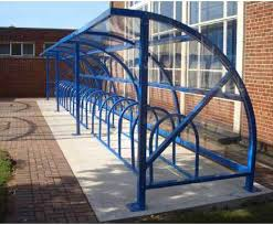 Alnwick Cycle Shelter With All Round Visibility Miko Shelter Solutions Esi External Works