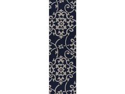 damask vines navy blue and gray