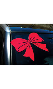 Red Bow Window Decal Ssw Dealer Supply
