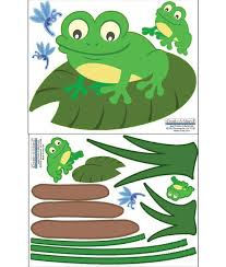 Frog Wall Decals Fun Frog Wall Stickers For Kids Rooms