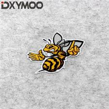 Motorcycle Helmet Side Box Oil Tank Sticker Angry Bee Funny Animal Honeybee Car Styling Bumper Decal 10x8cm Car Stickers Aliexpress