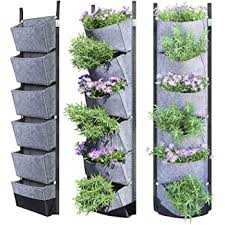 Amazon Com Richoose Vertical Hanging Garden Planter With 7 Pockets New Upgrade Waterproof Wall Mount Planter Pouch Solution Garden Outdoor