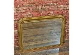 regency gilt gesso overmantle mirror