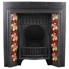 antique arched fireplace insert