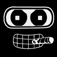 Futurama Bender Cigar Decal Sticker