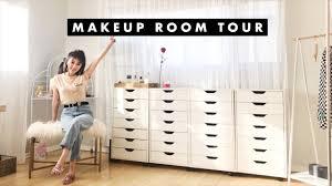 makeup collection room tour