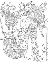 Sloth Zentangle Pattern Coloring Pages Puppy Coloring Pages