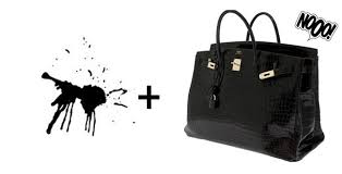 removing pen stains from your handbag