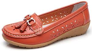 women loafers leather oxford slip