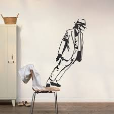 Michael Jackson Leaning Wall Art Decal Pop Singers Sticker Wall Murals Wall Appliques Trendy Wall Designs