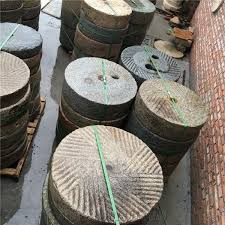 antique millstone for garden decoration