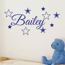Custom Name Personalised Wall Sticker Baby Kids Nursery Boys Bedroom Decal Ebay
