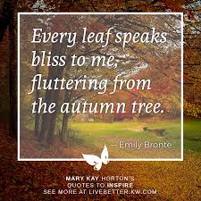 quotes to inspire emily bronte on autumn leaves live better