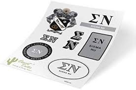 Amazon Com Sigma Nu Standard Sticker Sheet Decal Laptop Water Bottle Car Sig Nu Full Sheet Standard