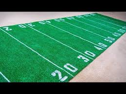 how to make a football field rug diy