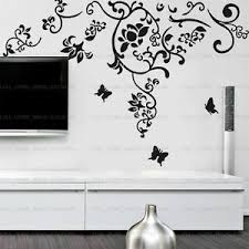 Huge Abstract Flower Vine Butterfly Wall Stickers Art Decal Home Decor Removable Ebay