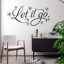 Let It Go Saying Song Quote Wall Decal Sticker Living Etsy
