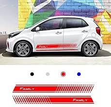 3 Pcs Vinyl Hood Roof Trunk Racing Stripe Car Sticker Decal For Bmw Vw Audi Ford