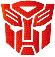 Amazon Com Zj Reflective Light Transformers Autobot Car Motorcycle Car Window Truck Notebook Vinyl Decal Sticker Autobot Car Accessories Vehicle Decorative Stickers Red Kitchen Dining