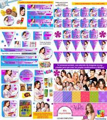 Kit Imprimible Violetta Candy Bar Invitaciones Souvenirs 694