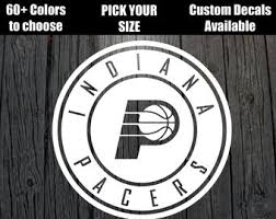 Decals Stickers Vinyl Art Home Decor Indiana Pacers Basketball Vinyl Decal Car Wall Window Sticker Choose Size Color Fibsol Com