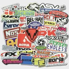 100pcs Auto Car Parts Nhra Drag Racing Vinyl Graphics Stickers Bomb Decals Sheet Ebay