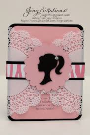 Barbie Doily Invitations Invitaciones De Barbie Fiesta De