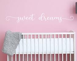 Sweet Dreams Decal Etsy