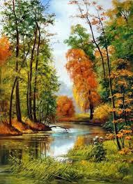 الخريف المناظر الطبيعية إيفان شيشكين