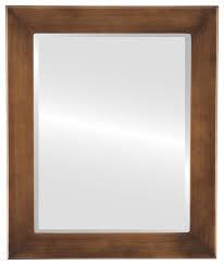 cafe framed rectangle mirror