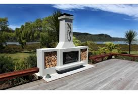 the douglas outdoor fireplace by trendz