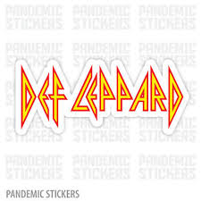 Def Leppard Vinyl Sticker Die Cut Full Color Laptop Car Window Rock Band Music Ebay