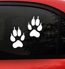 Amazon Com Wolf Paw Print Sticker Decal 2 White Paw Prints Actual Size Of Wolf Foot Prints Wolves Bumper Window Sticker For Cars Trucks Wall Laptop Arts Crafts Sewing