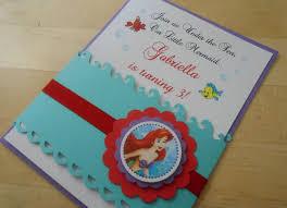 Ariel Crafted Invite Invitaciones Infantiles Invitaciones