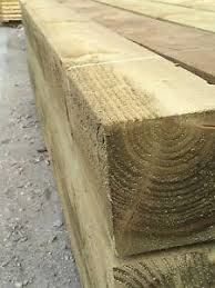 Wooden 8ft 6x6 Pressure Treated Timber Post 2 4x150x150 Fence Gate Sunderland Ebay