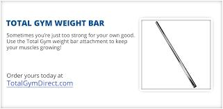 spotlight total gym weight bar total