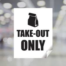 Take Out Only Window Decal Plum Grove