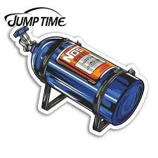 Jump Time For Nos Bottle Vinyl Stickers Car Racing Men S Fun Sticker Laptop Camper Window Bumper Motor Decal Car Wrap Car Stickers Aliexpress