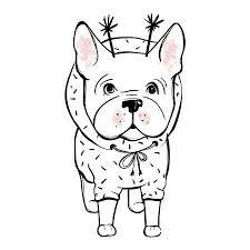 Hond Kerst Vectoren Illustraties En Clipart 123rf