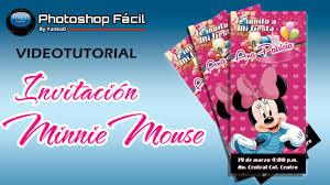 Invitacion Minnie Photoshop By Yanko0 Youtube