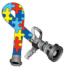 Autism Awareness Puzzle Pieces Hose Ribbon Helmet Decal Police Fire Ems Viny Graphics Stickers Decals Dkedecals