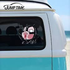Jump Time 13cmx13cm Catwoman Comic Superhero Funny Hitting Glass Car Stickers Vinyl Decal Laptop Creative Waterproof Accessories Car Stickers Aliexpress