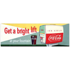 Get A Bright Lift Coca Cola Wall Decal 1950s Soda Fountain Etsy