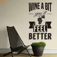 Wall Art Aya Diy Wall Stickers Wall Decal Wine A Bit You Ll Feel Better Pattern Pvc Wall Stickers M 42 67cm L 55 90cm Pvc Wall Sticker Wall Stickersticker Wall Decal Aliexpress