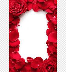الورود الحمراء مؤطرة وردة حمراء زهرة Png
