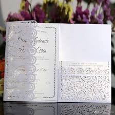 Compre Tarjetas De Invitacion De Boda Blanco Azul Marino Flor