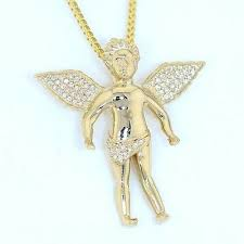 14k solid yellow gold diamond wings
