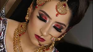modern traditional asian bridal makeup