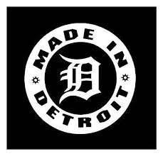 Made In Detroit Detroit Tigers D 6x6 Vinyl Car Truck Window Decal Sticker Ebay