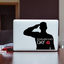 Remembrance Day Army Soldier Salute Symbol Poppy Flower Sticker Car Window Decal